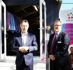 Jason Clare MP opening the new storage facility for Dress For Work Sydney | Melwood featured in local news release