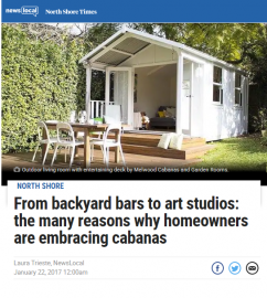 From backyard bars to art studios. Why many homeowners are embracing cabanas | Melwood featrured in the North Shore Times