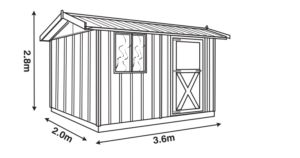 Melwood Cedar Timber Workshed Shed