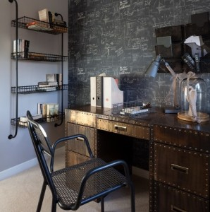 chalkboard wall home office