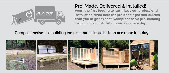 fast and easy install of a prefabricated melwood cedar shed