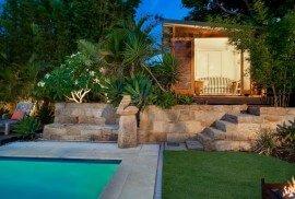 Mod Cabana 12 with Cedar Cladding upgrade pool cabana