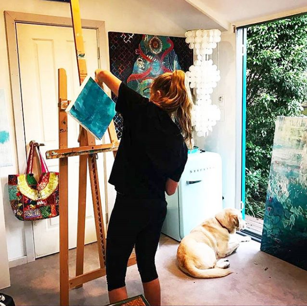 Kimberly's Art Studio. Source: @kimberlygreenart on Instagram
