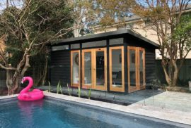 Stylish Black Pool Cabana