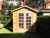 Cabana No.10 with double french doors and cedar cladding