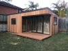 Espace 2000 with cedar cladding